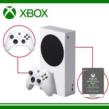 微軟 Xbox Series S 台灣專用機 + XBOX Game Pass Ultimate 3個月 +XBOX手把磨砂黑含線