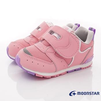MOONSTAR-日本月星頂級童鞋 -HI系列穩健寶寶款(MSB1214粉-13-14.5cm)