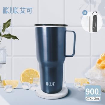 【IKUK 艾可】陶瓷內膽手把冰霸杯900ml(超強保冰10hrs)