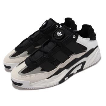 adidas 休閒鞋 Niteball 反光 運動 男女鞋 愛迪達 輕量 避震 透氣 情侶穿搭 黑 白 H67360 [ACS 跨運動]