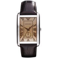 ARMANI 爵士 小秒針腕錶 AR1605 -香檳色