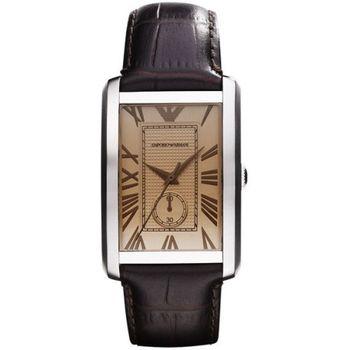 ARMANI 爵士時尚經典小秒針腕錶