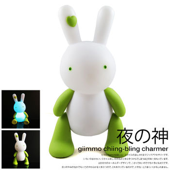 BabyTiger虎兒寶-獨家銷售!魔幻七彩玩伴拍擊夜燈-電池型兔子Lemon