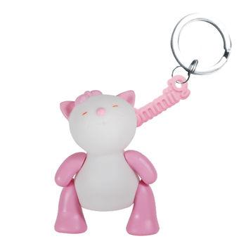 【BabyTiger虎兒寶】giimmo魔幻七彩玩伴LED鑰匙圈-小貓蘿絲Rose