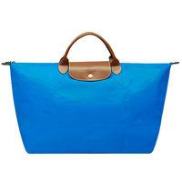 LONGCHAMP 摺疊短把水餃手提包-大-海藍色1624089-198