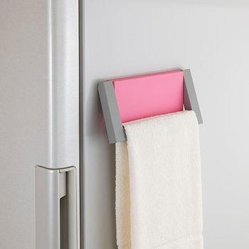 日本Belca磁吸式粉彩毛巾架