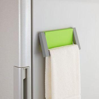 日本Belca磁吸式绿彩毛巾架