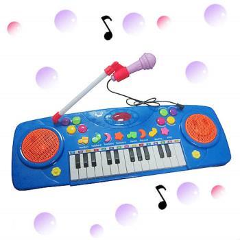 多功能微笑玩具麥克風電子琴
