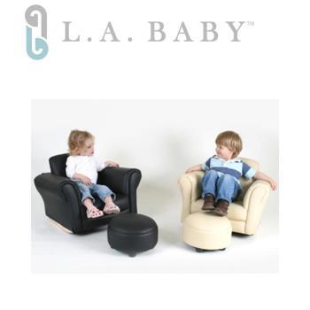 沙發搖椅L.A. Baby美國加州貝比~兒童專屬沙發搖椅(附多功能小椅凳)