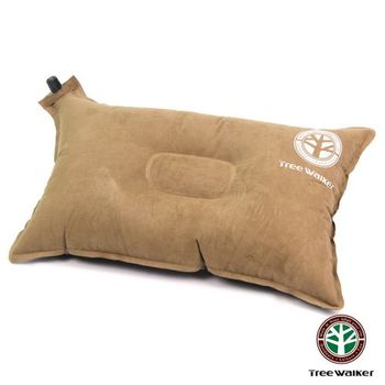 TreeWalker 舒適麂皮自動充氣枕頭