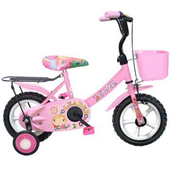 Adagio 12吋酷寶貝童車附置物籃(粉紅)~台灣製造
