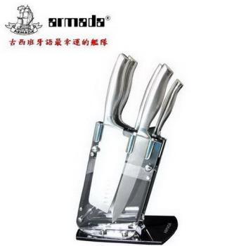 【armada】伊莉莎白五件式刀具組(附透明刀架座) JH-8051-1