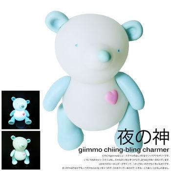 BabyTiger虎兒寶 giimmo魔幻七彩玩伴拍擊夜燈-電池型(小熊泰瑞Terry)