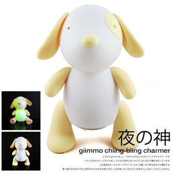 BabyTiger虎兒寶 giimmo魔幻七彩玩伴拍擊夜燈-電池型(小狗銳思Rice)