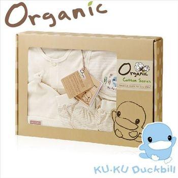 [KU.KU酷咕鴨]春夏有機純棉禮盒(0-6M適用)