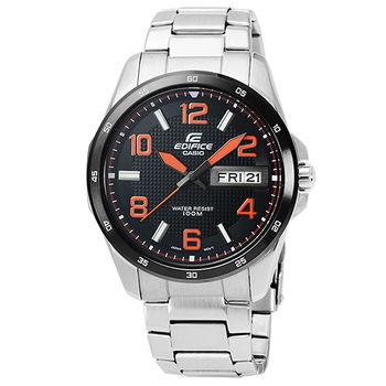 CASIO 卡西歐EDIFICE 時尚錶-黑橘 / EF-132D-1A4