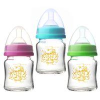 任選-貝喜力克 防脹氣高耐熱寬口徑玻璃奶瓶120ml