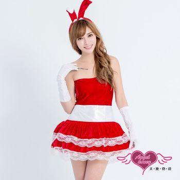 【天使霓裳】壞壞惹人愛 絲絨澎裙兔女郎裝 角色扮演(紅)