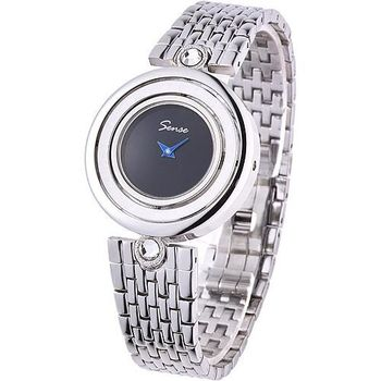 Sense 極致時尚晶鑽翻轉手錶(黑) Se0004