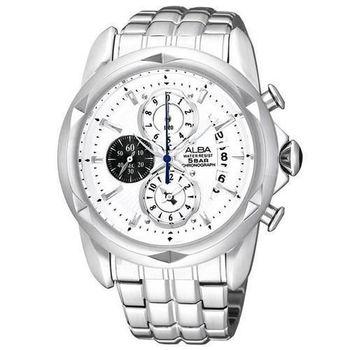 ALBA FLAGSHIP 世紀戰魂計時腕錶-銀 YM92-X189S