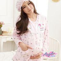 【天使霓裳】可愛貴賓狗圖案 居家孕婦哺乳衣套裝(粉)-UE121026