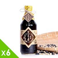 黑豆桑 天然極品頂級黑金醬油6瓶 (550ml/瓶)