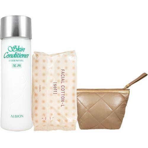 ALBION 艾倫比亞 健康化妝水N經典濕敷3件組