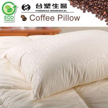 【台塑生醫】物理性壓花防蹣抗菌舒眠咖啡紗枕-1入