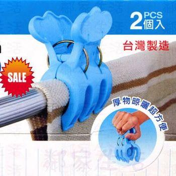 厚物型強力衣夾 厚物衣夾 棉被夾 晒衣夾 曬衣夾 大衣夾(2入)