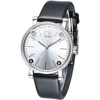 cK 科技透視鏡面造型時尚女錶-白 K3B231C6
