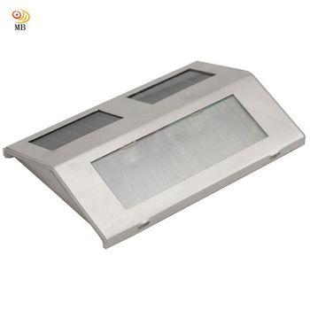 月陽不鏽鋼太陽能充電式自動光控2LED台階燈階梯燈柵欄燈(508)