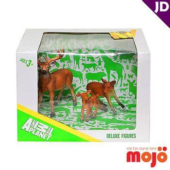 【MOJO FUN 動物模型】精裝禮盒-鹿家族三件組 (387331)