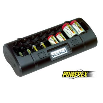 【MAHA-POWEREX】八通道大小通吃智慧型充電器【1~4號電池皆可充】(MH-C808M)