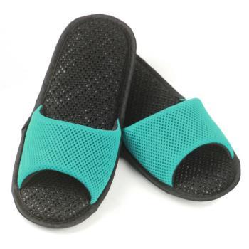 AC Rabbit 開口型低均壓氣墊拖鞋(馬卡龍色系)-湖水綠