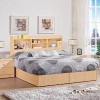 《新之森林》安娜 5尺雙人三件房間組,2色可選 白橡色/胡桃色 (床頭箱+床底+獨立筒床墊)