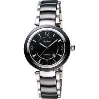 Diadem 黛亞登 都會女伶陶瓷腕錶-黑 8D1407-511D-D