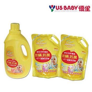 優生 抗菌防蹣洗衣精2000mlx1+補充包1800mlx2