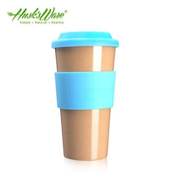 【美國Husks ware】稻殼天然無毒環保咖啡隨行杯-綠松石藍