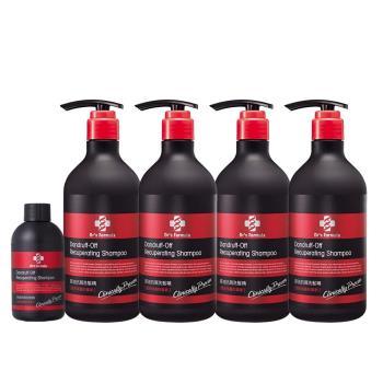 《台塑生醫》Dr's Formula控油抗屑洗髮精580g*4瓶+控油100g隨身瓶*1瓶