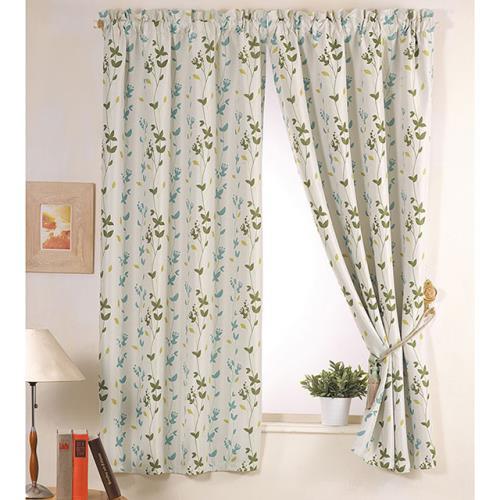 巴芙洛 西雅圖籃色半腰遮光窗簾200cm×165cm