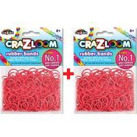 【美國Cra-Z-Art】Cra-Z-Loom 圈圈彩虹編織 橡皮筋補充包 深紅x2包(共600條)