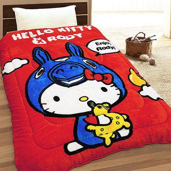 【享夢城堡】HELLO KITTY  RODY 幸福時光 法蘭絨毯被(紅)