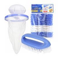 【日本AISEN】洗曬3件組(20入曬夾+浮球濾網+洗衣刷)
