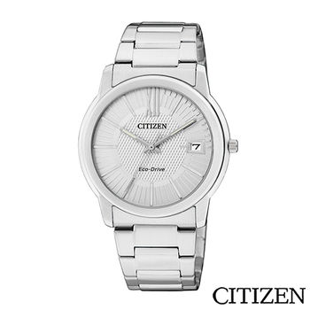 【CITIZEN】概念躍動光動能日期腕錶 銀白 FE6010-50A