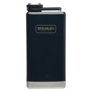 【美國Stanley】SS經典酒壺236ml(錘紋藍)-隨身酒壺水壺/不銹鋼酒壺/威士忌壺/可攜帶酒壺