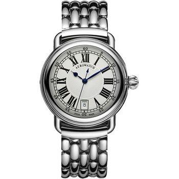 AEROWATCH Elegance 羅馬復刻機械腕錶-銀  A60900AA01M