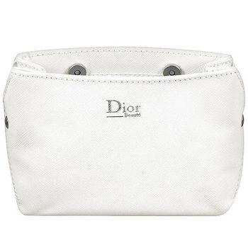 Dior 迪奧 壓紋磁扣Beaute化妝包(白)