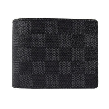 Louis Vuitton LV N63261 黑棋盤格紋多卡雙折短夾 現貨