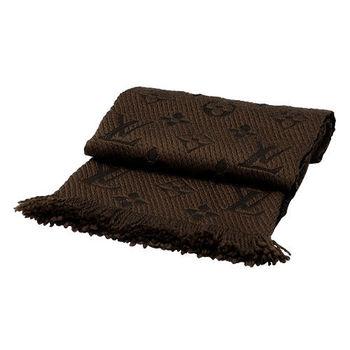 LV M72241 Monogram LOGO MANIA 羊毛針織圍巾((栗子色)
