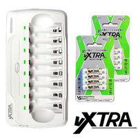 ~VXTRA~LED智慧型4.8A大電流八入充 充電組 內附4號充電電池8入